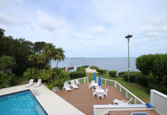 view from master bedroom balcony overlooking florida bay in islamorada florida keys