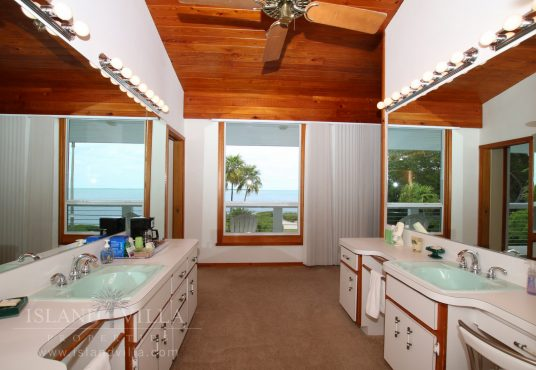 master bathroom with water views