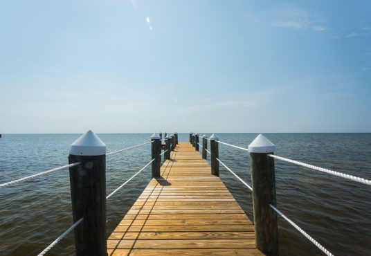 wooden pier on the ocean