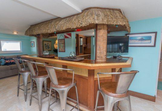 tiki bar and game room
