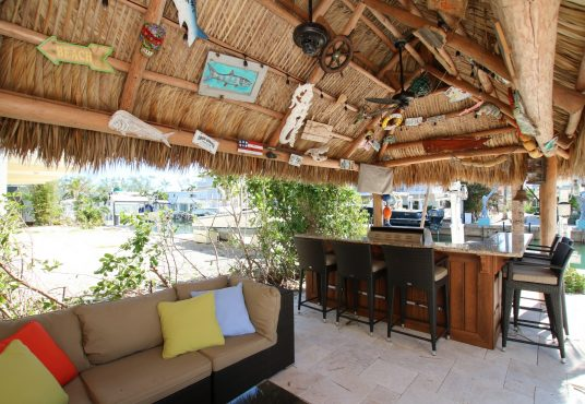 poolside and dockside tiki bar