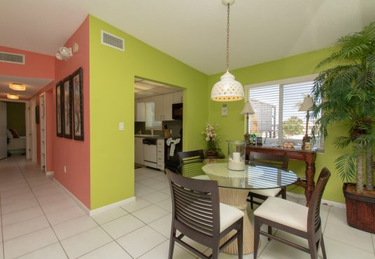 Tropical color scheme dinning room