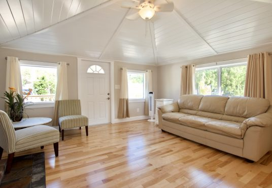 bright and spacious living space makes this vacation rental very homey