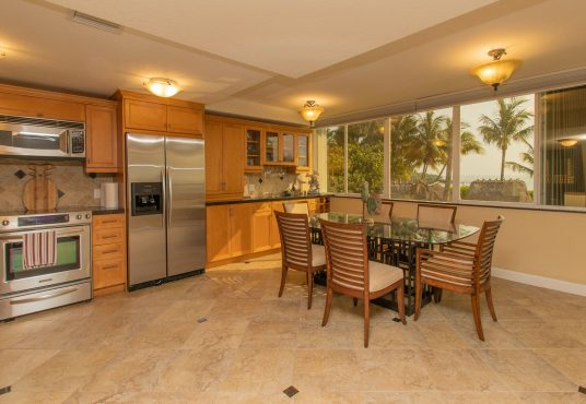 spacious updated full kitchen with stainless steel appliances