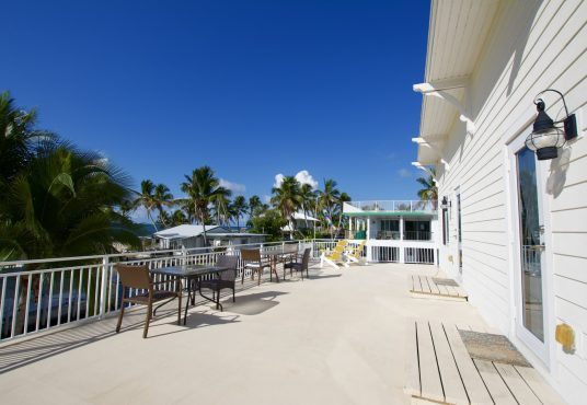 Upper deck sun patio at seas the day vacation rental in the florida keys